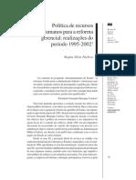 Política de Recursos Humanos Para a Reforma Gerencial Realizações Do Período 1995.2002