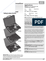 Petrol Engine Twin Camshaft Setting-locking Tool Kits
