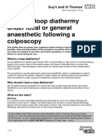 Having Loop Diathermy Under Local General Anaesthetic