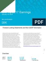 IBM 4Q17 Earnings Charts