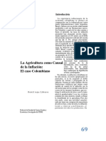 La Agricultura Como Causal de La Inflacion El Caso Colombiano