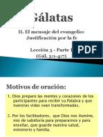 Gálatas lección 3
