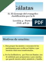 Gálatas lección 4