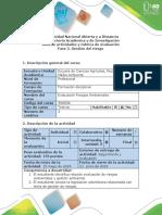 Guía de Actividades y Rúbrica de Calificación - Fase 3 - Gestión Del Riesgos (1)