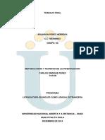 Proyecto Final Metodologias y Tecnicas de La Investigacion