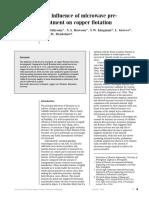 Sahyoun Et Al. - 2005 - The Influence of Microwave Pre-treatment on Copper Flotation