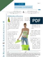 EcoQuest Ltd Bericht Dr Reuter Investor Relations März 2010