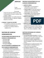 Las Cuencas Hidrográficas en El Perú