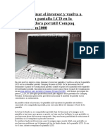 Cómo Eliminar El Inversor y Vuelva a Colocar La Pantalla LCD en La Computadora Portátil Compaq Presario m2000