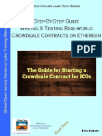 Step-By-Step Guide Writing & Testing Real-world Crowdsale Contracts on Ethereum