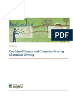 Computer Scoring of Student Writing