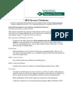 Apa Text Citations