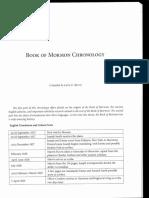 Book of Mormon Chronology