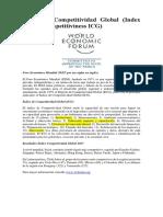 Breve Explicación - Indice de Competitividad Global