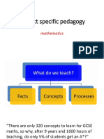 Subject Specific Pedagogy in Mathematics