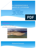 presentation of cofferdam design