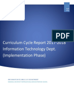it department curriculum report