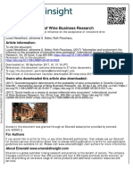 Information and Involvement the Influence on the Acceptance of Innovative Wine Packaging