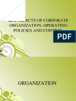 KEY ASPECTS OF CORPORATE ORGANIZATION, OPERATING POLICIES.pptx