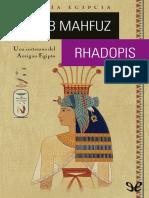 Rhadopis - Naguib Mahfuz