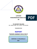 Cover Raport Paud Tk b