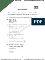 CBSE Class 10 Mathematics HOTs Trigonometry