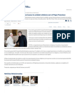 Consejo Mundial de Iglesias Busca La Unidad Cristiana Con El Papa Frascisco
