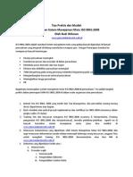 Petunjuk Praktis Dan Mudah Penerapan Sistem Manajemen Mutu ISO 9001