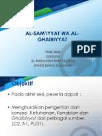 Al-sam'Iyyat Wa Al-ghaibiyyat 1