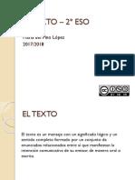 EL TEXTO – 2º ESO