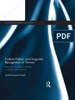 Culture Politics and Linguistic Recognition in Taiwan