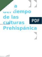 Línea del tiempo de las culturas Prehispánicas