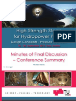 High Strength Steels for Hydropowerplants - Conférence Graz Sept2013