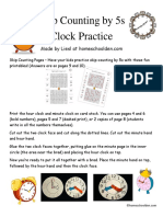 Clock Printable SkipCounting by 5s