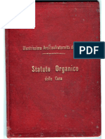 Arciconfraternita Dei Rossi Di Messina - Statuto1902