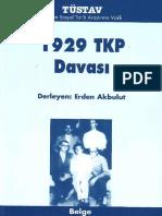 1929 TKP Davası Tüstav Yayınları