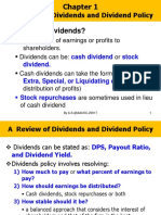 Chapter 1 (B)  Dividends and Dividend Policy.ppt