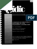 FIDIC Subcontract