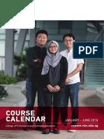 NTU Course Calendar Jan Jun 2018