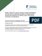 FYP - Thermal Comfort Investigation of Multi Storey Building