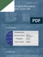 Protokol Uji BioEkivalensi Obat Slidenafil