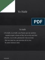 Yo Hallé