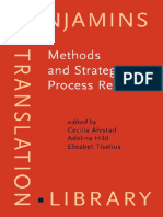 (Benjamins Translation Library 94) Birgitta Englund Dimitrova, Cecilia Alvstad, Adelina Hild, Elisabet Tiselius-Methods and Strategies of Process Research_ Integrative Approaches to Translation Studies