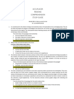 Accuplacer Reading Comprehension Study Guide Print-Able (1)