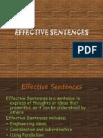Effective Sentence