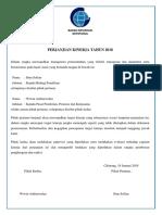 Perjanjian Kinerja Kepala Bidang Penelitian 2018