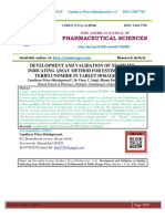 DEVELOPMENT AND VALIDATION OF STABILITY INDICATING ASSAY METHOD FOR ESTIMATION OF TERIFLUNOMIDE IN TABLET DOSAGE FORM