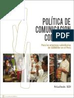 Politica de Comunicacion Comercial Backus