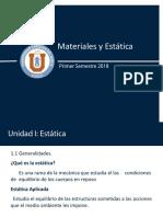 Clase_1 estatica y resistencia de materiales ucn