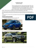 Linda Car Report